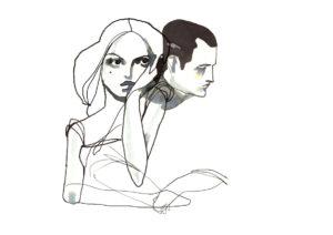 Couple en crise après le mariage